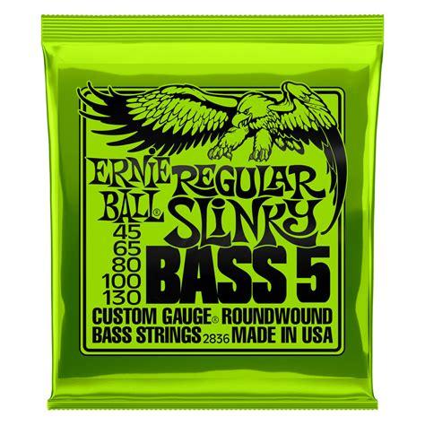 ernie bass regular slinky for 5 string 45 130 mcquade musical instruments