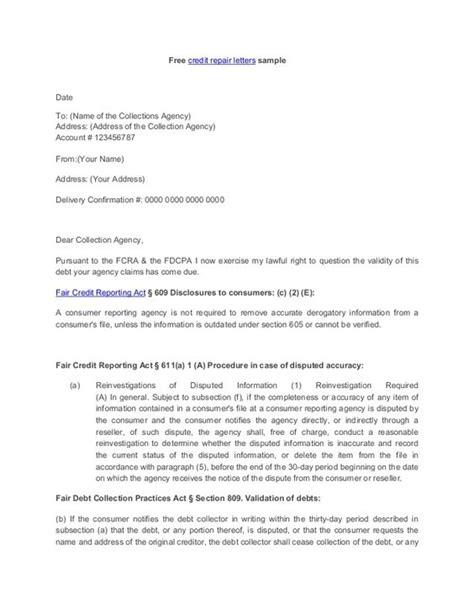 credit repair templates letters section 609 credit dispute letter sle credit repair secrets exposed credit repair