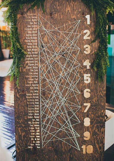 10 Unique Seating Chart Ideas Your Guests Will Love Original Ideas