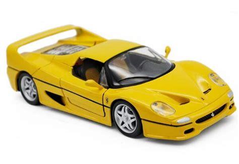 Diecast Burago F50 yellow 1 24 scale bburago diecast f50 model nb9t628 ezbustoys