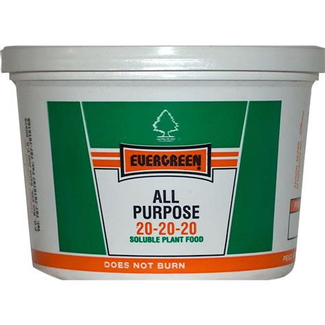 Mba Fertilizer 0 2 5 by Evergreen 0 5 Lb All Purpose Plant Food 20 20 20 08 The