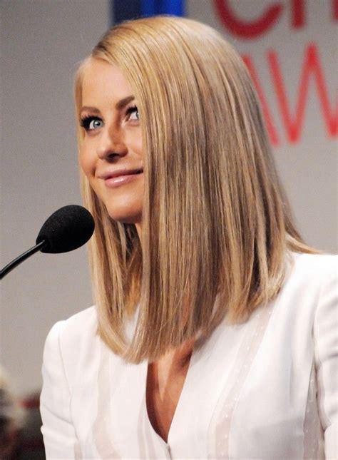 long asymmetrical lob julianne hough straight hair hair cut ideas pinterest