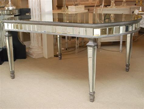 deco oval mirrored dining table at 1stdibs