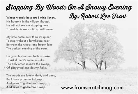 Essay On A Snowy Day by Stopping By Woods On A Snowy Evening From Scratch Magazine