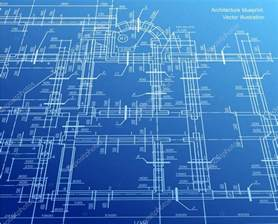 Blue Print Of House by Architecture Blueprint Background Vector Stock Vector