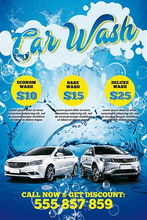 Car Wash Poster Template Download The Car Wash Free Psd Poster Template