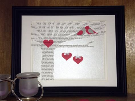 1st Wedding Anniversary Song Lyrics by Items Similar To Unique Wedding Gift Personalized