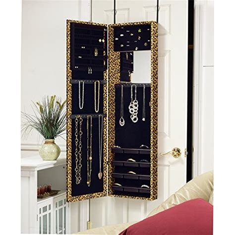 over the door jewelry armoire with full length mirror astoria over the door wall mounted full length mirror