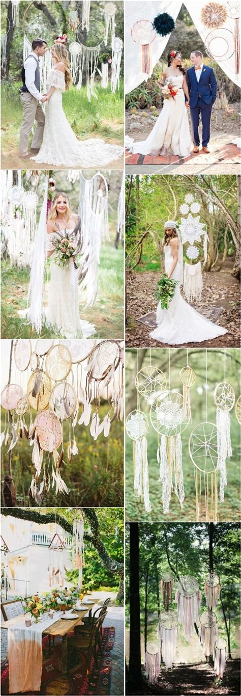 30 Dreamcatchers Boho Wedding Decor Ideas   Bohemian