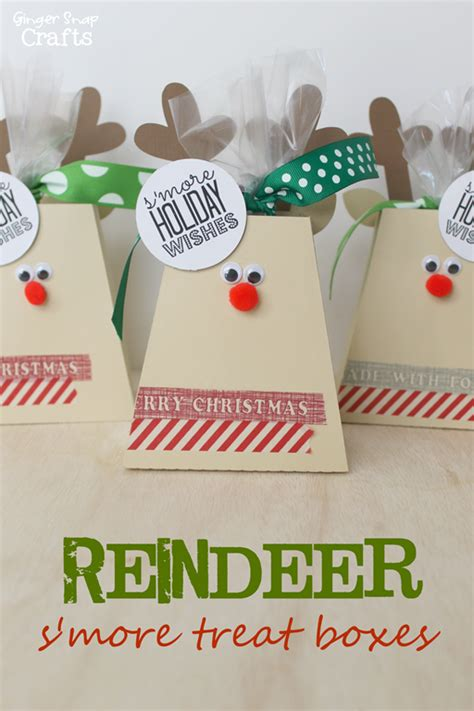 printable reindeer gift box ginger snap crafts reindeer s more treat boxes free