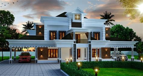 3500 Sq Ft House Plans by 4356 Sq Ft Double Floor Contemporary Home Design Veeduonline