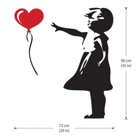 banksy wandtattoo ballon m 228 dchen streetart banksy wandaufkleber wandtattoo