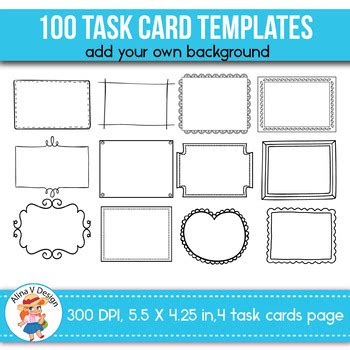 task card templates task card templates editable 100 by alina v design and