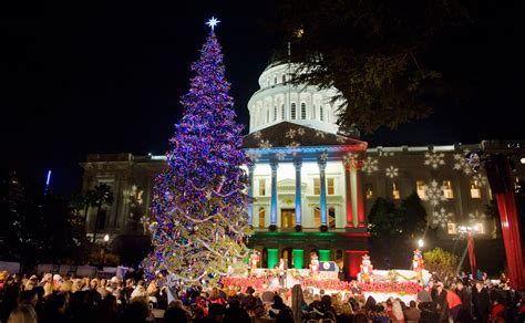 sacramento capital christmas decorations tree lightings sacramento sidetracks