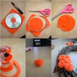 Handmade Crafts For Home Decoration Diy Halloween Felt Rose Wreath Home Design Garden