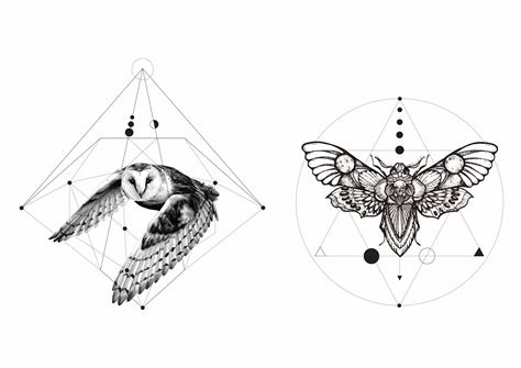 geometric tattoo flash geometric animal designs