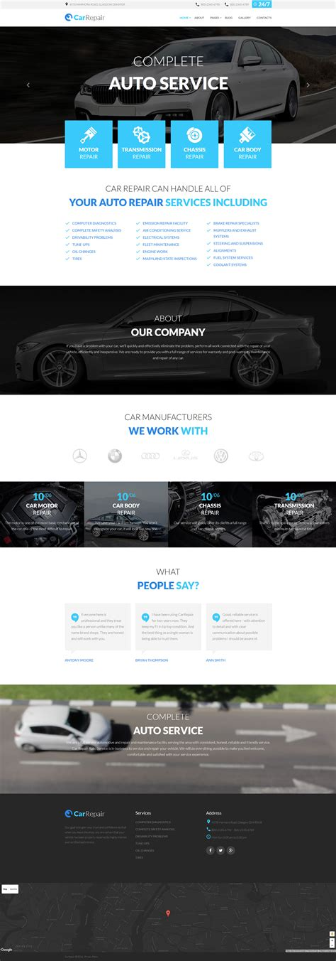 Car Repair Joomla Template Joomla Automotive Template