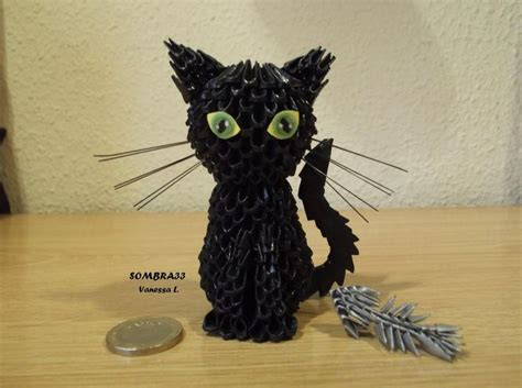 3d Origami Projects - my cat by sombra33 deviantart on deviantart oragami