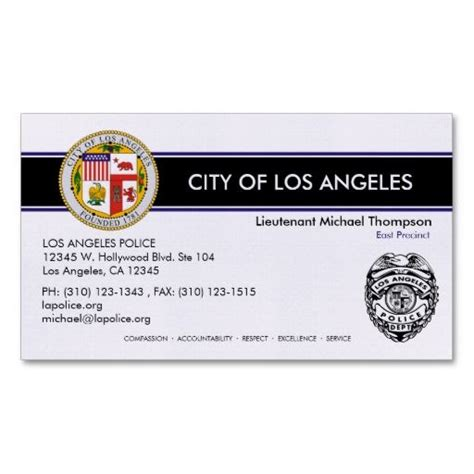officer business cards templates lapd officer business cards quot quot lapd