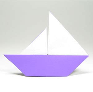 Origami Sailing Boat - how to make a traditional origami sailboat page 1