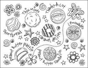 free coloring pages of scout cookie