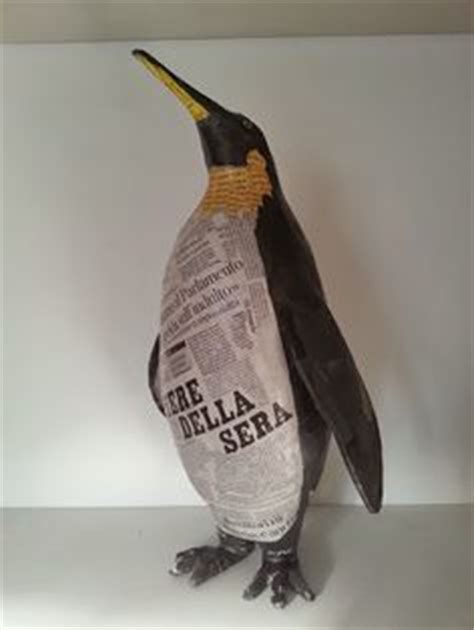 How To Make A Paper Mache Penguin - 1000 images about paper mache on paper mache
