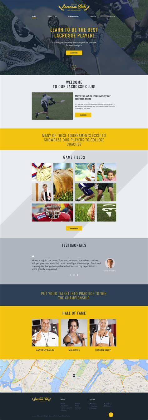 Sport Website Template 57662 Templates Com Best Sports Website Templates