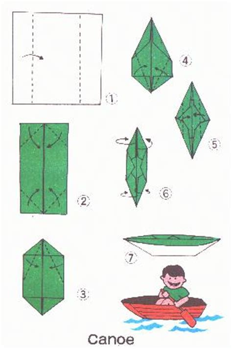 Kayak Origami - canoe origami c program ideas