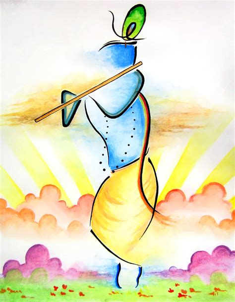 color sketch design process how i made the abstract lord krishna