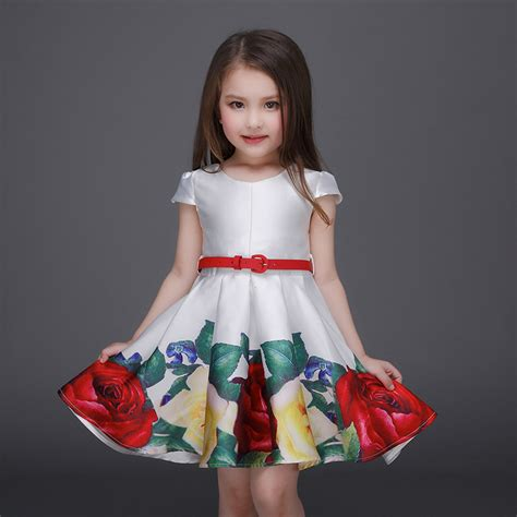 summer dresses for 29 yrs old hot sale christmas print floral girls dress 7 year old
