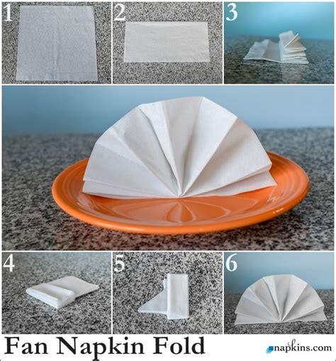 how to fold table napkins standing fan napkin fold how to fold a napkin
