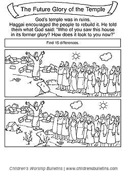 sunday school activities about haggai   children's worship
