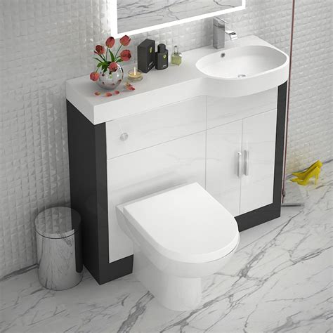 Bathroom Vanity Units With Basin And Toilet Grey 1000 Vanity Unit Rh Buy At Bathroom City