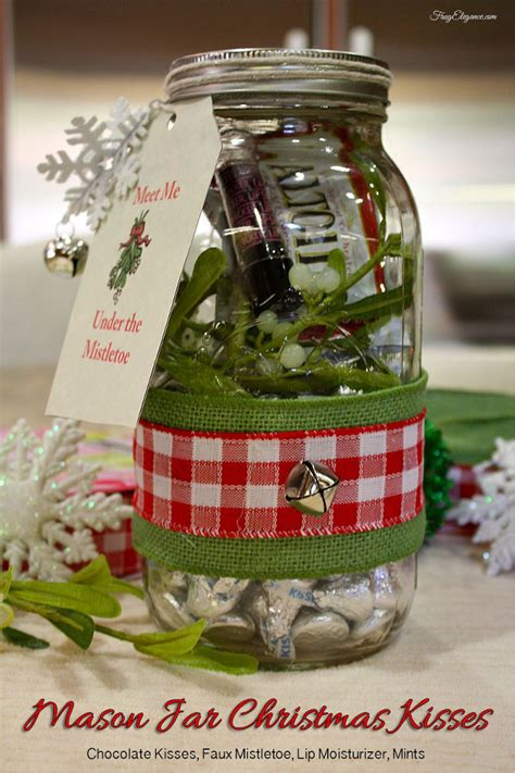 hometalk mason jar gift christmas kiss kit