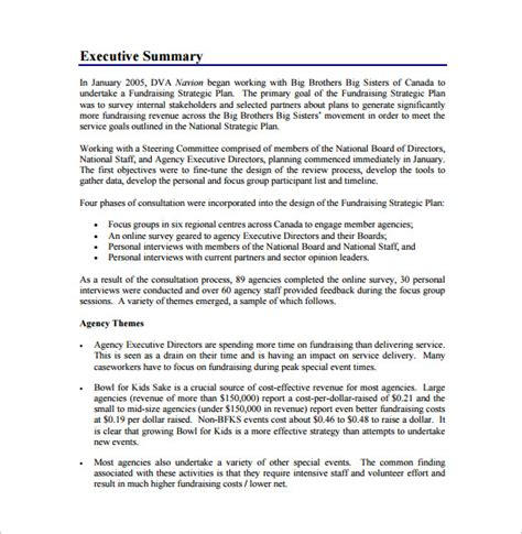 fundraising business plan template fundraising plan template 7 free word pdf documents