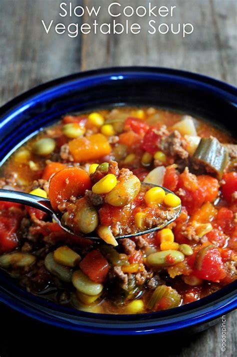 slow cooker vegetable soup recipe