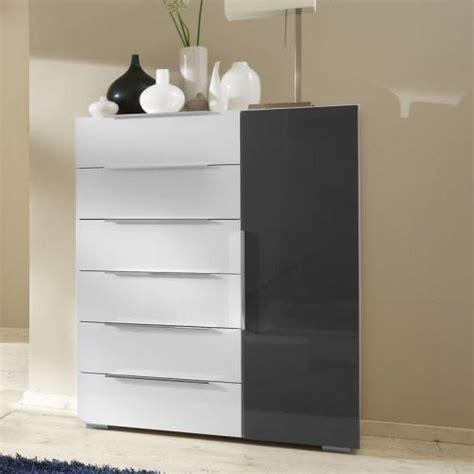 kommode grau hochglanz top schlafzimmer sideboard in hochglanz weiss grau
