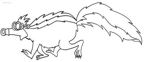 Skunk Coloring Pages Printable by Printable Skunk Coloring Pages For Cool2bkids