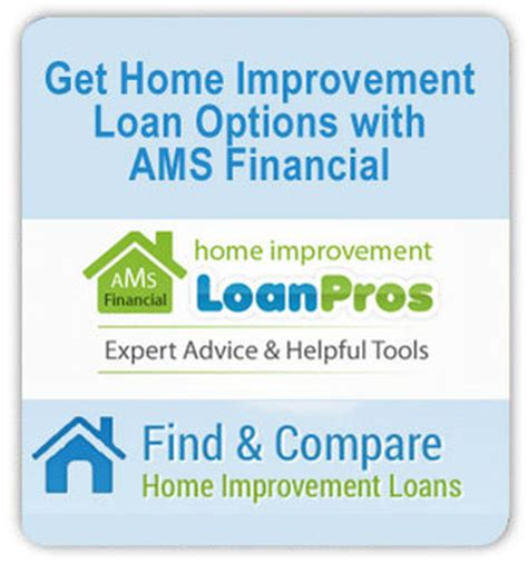 get home improvement financing and loan options for