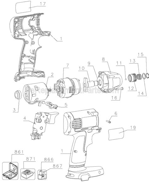 Dw Dw056 Black dewalt dw056 parts list and diagram type 1