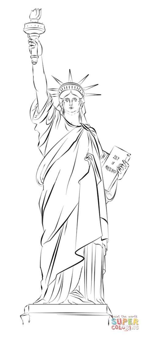 statue of liberty drawing template statue of liberty in new york coloring page free