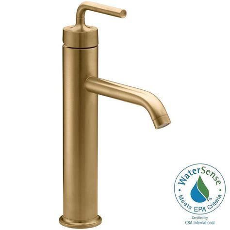 tall single handle bathroom faucet kohler purist tall 1 hole single handle low arc bathroom