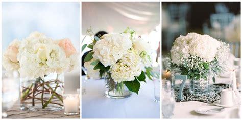 diy wedding flower arrangement ideas 21 simple yet rustic diy hydrangea wedding centerpieces ideas