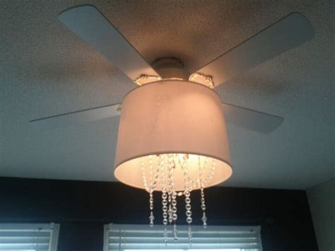 chandelier with ceiling fan attached update an ceiling fan by attaching a plain