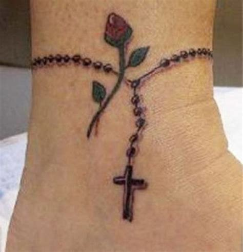 rose beads tattoo 57 impressive rosary wrist tattoos design