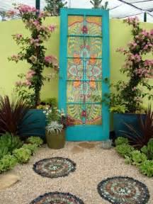 repurposed doors in the garden 21 bohemian garden ideas i do myself