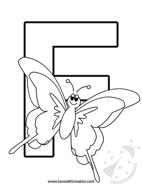 disegno lettere alfabeto alfabeto con disegni lettera f