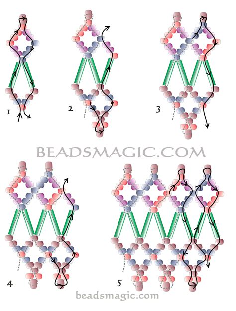 free bead patterns free pattern for beaded necklace classic magic 2
