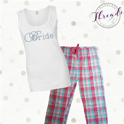 braut pyjama personalised bride pyjamas pajamas bridesmaid pjs bridal