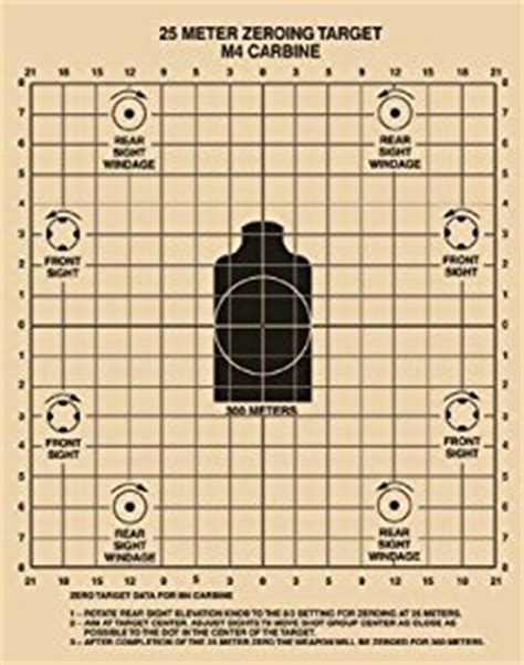 printable zero targets for m4 amazon com ar15 targets military rifle zeroing targets